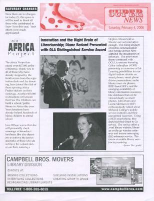 OLA Super News: Saturday, February 4, 2006