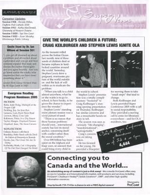 OLA Super News: Saturday, February 5, 2005
