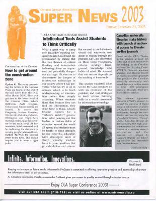 OLA Super News: Friday, January 31, 2003