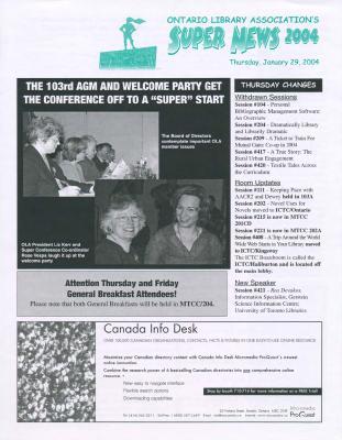OLA Super News: Thursday, January 29, 2004