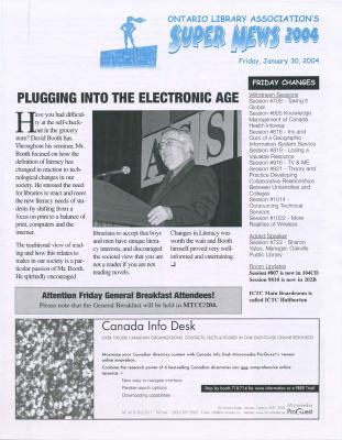 OLA Super News: Friday, January 30, 2004