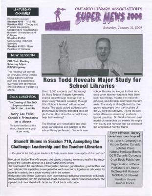 OLA Super News: Saturday, January 31, 2004