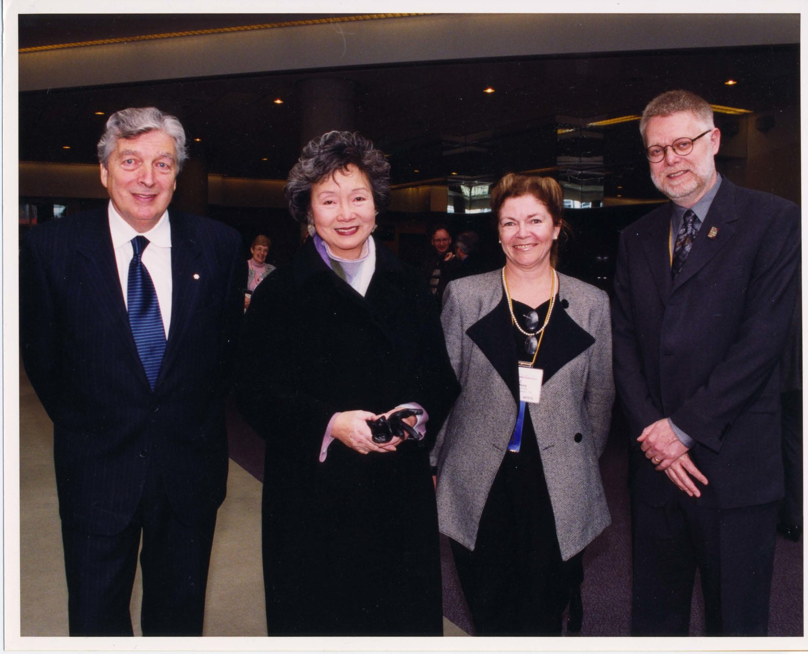 Roch Carrier, Adrienne Clarkson, Liz Hoffman, and Mike Ridley at Super Conference 2001