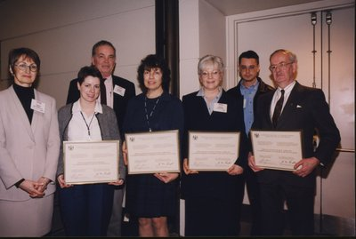 Deputy Minister Lucille Roch and award winners at Super Conference 2000