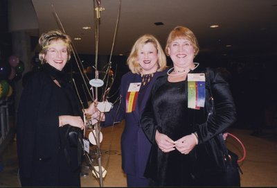 Dressed up for the Rendezvous at the CN Tower party at Super Conference 2000