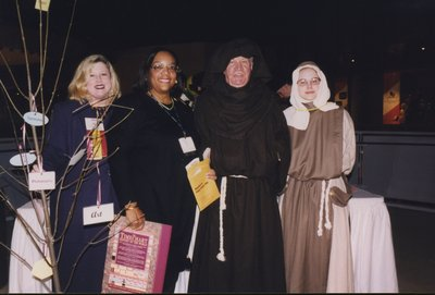 Dressed up for the rendezvous at the CN Tower conference party at Super Conference 2000
