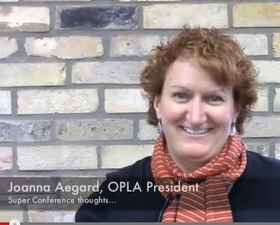 Joanna Aegard, President of OPLA, chats About SC14 Buzz