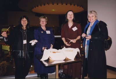 Enjoying snacks at Super Conference 2000