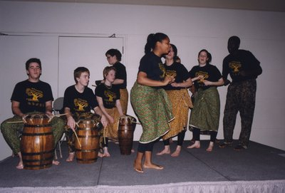 Dance troupe at Super Conference 2000