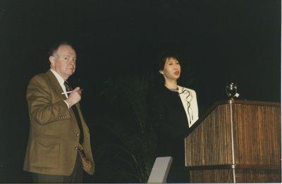 OLA President John Black with Plenary Speaker Susan Eng at Super Conference 1997