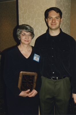 Wendy Kennedy and her son at Super Conference 1997