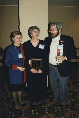Elise Hayton, Wendy Kennedy, and Bernard Katz at Super Conference 1997