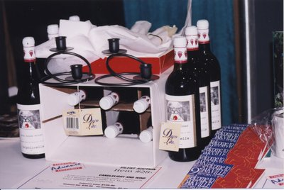 Silent auction items at Super Conference 1998