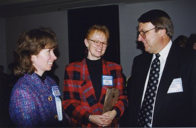 Vivian Lewis, Gloria Leckie, and John Lumsden at Super Conference 1998