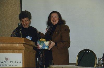 Susan Moskal and Martha K. Wolfe at Super Conference 1999