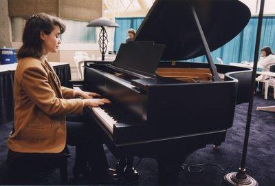 Piano music at Expo reception 2000