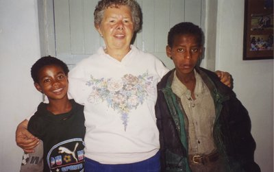 Shirley Lewis in Addidas Abbaba, Ethiopia