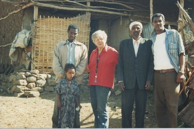 Shirley Lewis in Africa