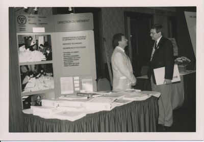 Grant Hopcroft at the Ministry of Housing Booth.