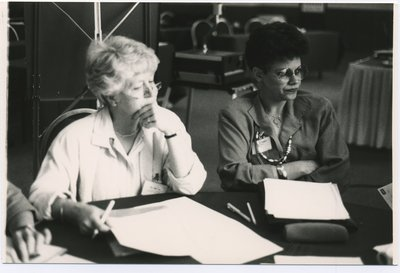 Rosemary Kavanagh and an unidentified woman