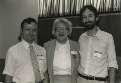 Grace Buller and John Slater with a consultant from the Ministry of Culture.