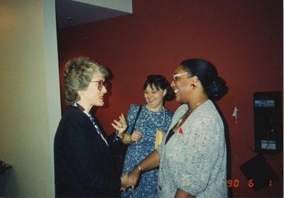 Paula De Ronde and unidentified women