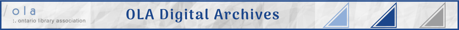 OLA - Ontario Library Association - history & archives