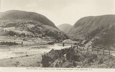 Mountains and Trout Pool near Cheticamp, Cape Breton, N.S.