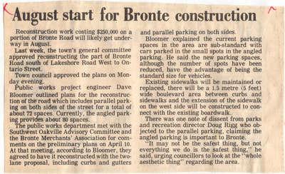 August start for Bronte construction