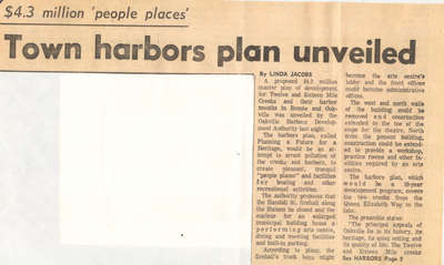 Town harbors plan unveiled