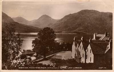 Arrochar Mountains from Inversnaid Hotel, Loch Lomond