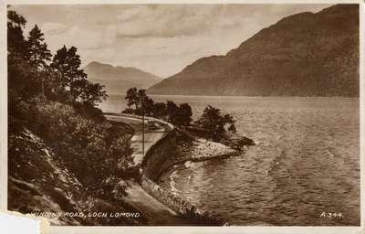 Winding road, Loch Lomond