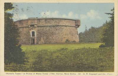 """""""Martello Tower,"""" or Prince of Wales Tower (1796) Halifax, Nova Scotia"""