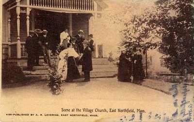 Scene at the Village Church, East Northfield, Mass.