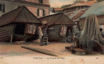 Étretat – Le Travail des Filets [Mending the fishnets]