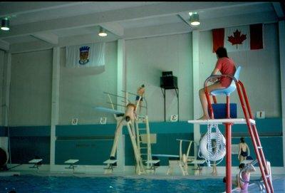 Diving at Oakville Centennial Pool