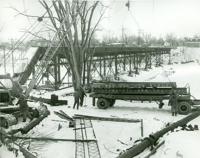 Demolition of Radial Bridge