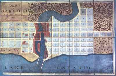 1835 Palmer Plan of Oakville  OHS #56