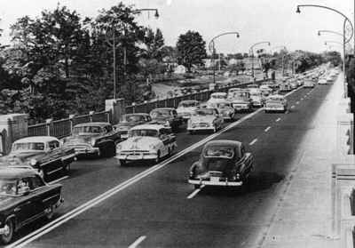 Cars on the Queen Elizabeth Way