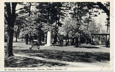 St.George's Park and Cenotaph, Oakville, Ontario, Canada.