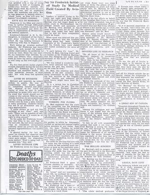 Media Coverage of Frederick Banting's Death 3