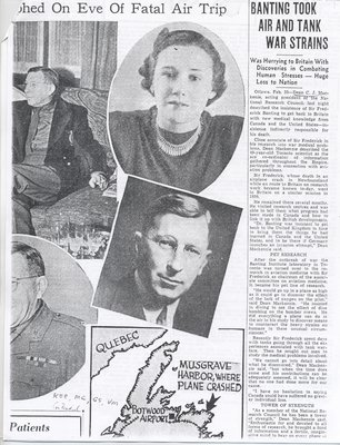 Media Coverage of Sir Frederick Banting's Death 2