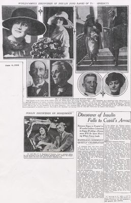 Wedding of Frederick and Marian Banting