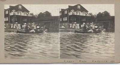 Canoe race Oakville 1908