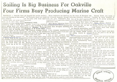 Sailing is big business for Oakville