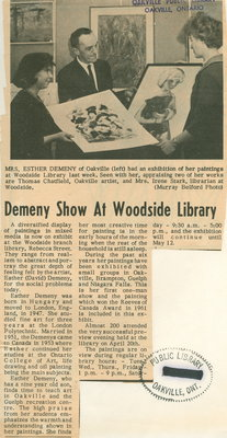 Demeny show at Woodside library