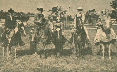 "<font color=""white"" face=""verdana"">Cowboys during Centennial celebrations"
