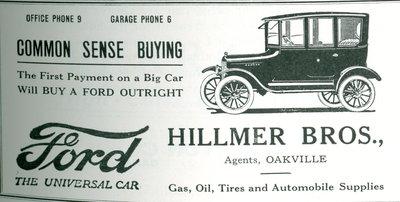 Hillmer Bros. Ford Dealership advertisement