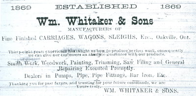 Wm. WHitaker & Sons advertisement