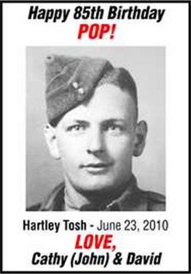 Hartley Tosh Birthday Annoucement